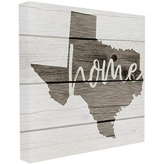 The Stupell Home Decor Collection Texas Home Typography Map Stretched Canvas Wall Art, 17 x 17 >>> Check out the image by visiting the link. (This is an affiliate link)