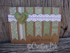 card...change the paper and change the heart into a snowflake.  would make a cute Christmas card