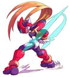 Zero & Recoil Rod - Characters & Art - Mega Man Zero 3