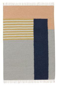 Tapis Kelim White Lines / 200 x 140 cm