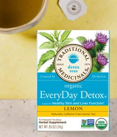 EveryDay Detox® Lemon - Traditional Medicinals-great for healthy skin