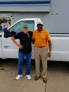 Terry Childers with his Sales Associate, Garfield Bohanna. Thanks Again, Terry 😃👍
