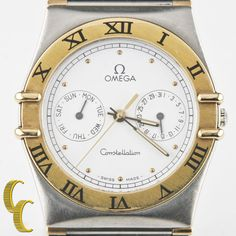 Omega Ω Men's Constellation 18k Yellow Gold & Stainless Steel Quartz Watch #Omega #LuxurySportStyles