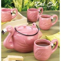 Flamingo tea time...I can see this in my back yard:)