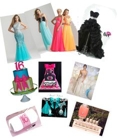 """sweet 16 ideas"" by louisecarvalho ❤ liked on Polyvore"