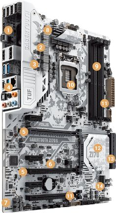 The innovative and new-age digital Camouflage integrates into the motherboard to achieve high stealth action in every mission possible; SABERTOOTH Z170 S presents extreme durability with many exclusive TUF features - TUF ICe, TUF Thermal Radar 2 and TUF Detective 2 for ultimate cooling, strength and easy monitoring and control. Intel® Z170 Express-based motherboard for 6th-generation Intel Core™ processors also boasts bang-up-to-date connectivity with both USB 3.1 Gen 2 Type-A and…