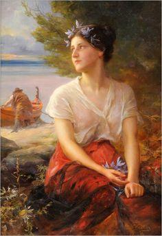 Paul Hermann Wagner (1852-1937) The pretty fisherman