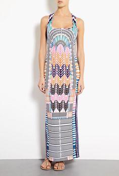 Electric Casino Tank Maxi Dress by Mara Hoffman