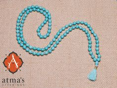 This mala bestows overall well-being to the wearer. #malabeads http://atmasofferings.com/product/tibetan-turquoise/