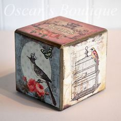 Shabby Chic Vintage French Country Style Decorative Wooden Box Distressed Bo Decorations