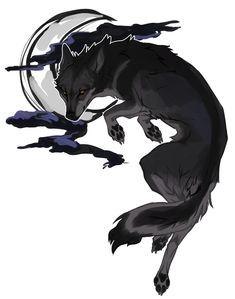 Fantasy Wolf, Fantasy Art, Fantasy Creatures, Mythical Creatures, Saarloos, Wolf Artwork, Anime Wolf, Cute Animal Drawings, Fox Art