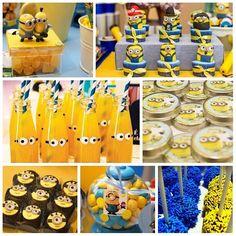 #Minions!!! Os Minions são pequenas criaturinhas amarelas que surgiram no filme Meu Malvado Favorito. Festa Infantil Minions é super divertida e fofa! Se seu filho adora esses personagens, é uma ótima escolha para sua festa. São muitas ideias para esse tema, confira algumas com produtos que você encontra em nossa loja. Temos a decoração completa aqui: http://www.aluafestas.com.br/aniversarios/temas-infantis/minions