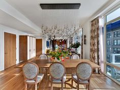 Chelsea Penthouse  Living Room/Dining Room   Kati Curtis Design | NYC  Interior Designers