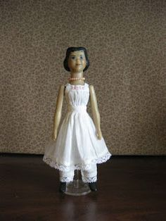 In Hitty: Her First Hundred Years , Dorothy Lathrop drew the delightful illustrations. Many of the illustrations depict Hitty in dresses tha. Old Dolls, Antique Dolls, Dance Dresses, Flower Girl Dresses, Peg Wooden Doll, Photo Elements, Doll Dress Patterns, Real Doll, Sewing Aprons