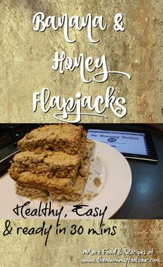 Healthy Banana & Honey Flapjacks