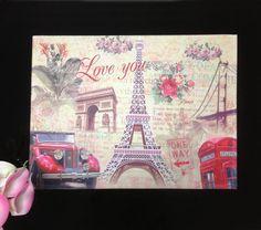 Vintage France Paris Eiffel Tower Red Telephone Booth Door Mat Floor Rug Pad | eBay