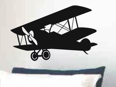 Large Airplane Wall Decal Kids Bedroom or Nursery Wall Decor.