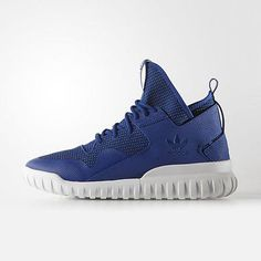 Adidas Tubular X Mens S77844-Navy Blue White Athletic Shoes Sneakers Size 10.5