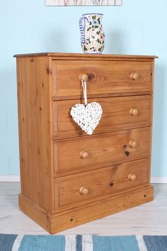 £149 LARGE SOLID PINE CHEST OF DRAWERS 4 DEEP DRAWERS - over 100 items available on the website - http://www.sussexpineonline.co.uk/