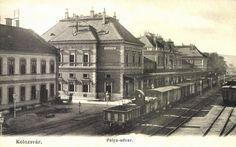 Kolozsvár:pályaudvar,vasútállomás,1906.  Railway station. Budapest Hungary, 19th Century, The Past, Louvre, Around The Worlds, Mansions, House Styles, City, Building