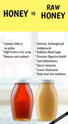 raw honey vs honey