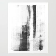 "Black and White Minimalist Geometric Abstract Painting ""Structure Art Print by mininst Black And White Lines, Black And White Wall Art, Black And White Painting, Black And White Abstract, Minimalist Landscape, Minimalist Painting, Minimalist Art, Abstract Lines, Abstract Landscape"