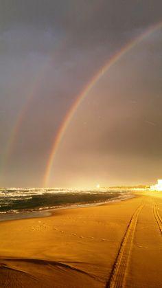 arcobaleno, durato oltre mezzora
