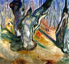 bofransson:  Elm Forest in Spring Edvard Munch - 1923-1925
