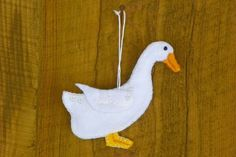 Felt Duck Christmas Ornament Pattern