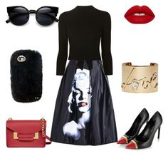 Dark Marilyn by ryleigh722 on Polyvore featuring polyvore, fashion, style, Alexander McQueen, Yves Saint Laurent, Sophie Hulme, Lanvin, Lime Crime and clothing