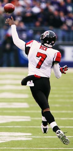 Michael Vick - Atlanta Falcons. Huge fan of Vick when he played for the falcons