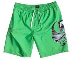 #Quiksilver logo 19 volley shorts verde  ad Euro 35.90 in #Quiksilver #Costumi da bagno uomo
