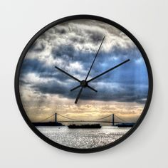 Buy The Bridge Wall Clock by haroulita!!. Worldwide shipping available at Society6.com. Just one of millions of high quality products available.