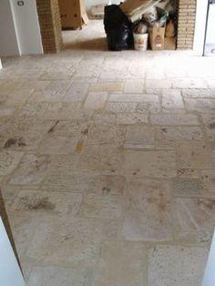 Stone Floors Antique 'Biblical Limestone' Reclaimed Tiles & Pavers mediterranean-floor-tiles