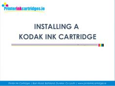 If you have problem with installing ink cartridges for your kodak printers then follow the steps outlined in our latest powerpoint presentation, it has some really good tricks and suggestions to troubleshoot the problem.