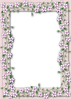 Delicate PNG Transparent Flower Frame