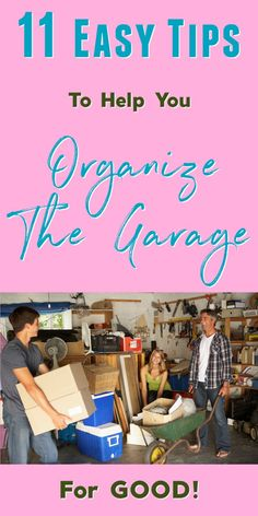 11 Easy Tips For Garage Organization: Organize Your Garage For Good! Declutter Your Home, Organize Your Life, Organizing Your Home, Organizing Toys, Garage Organization Tips, Clean Garage, Fun Questions To Ask, Garage Walls, Time Management Tips