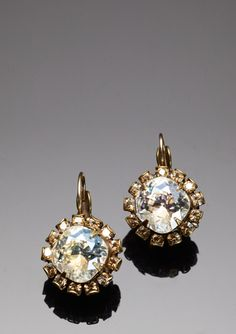 Large Crystal Drop Earrings - Liz Palacios