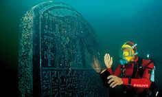 Blockbuster exhibition to feature objects from two lost cities at mouth of the Nile uncovered by underwater archaeologists