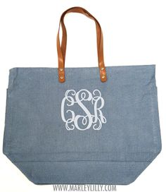 Monogrammed Large Jute Bag