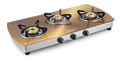 Amazon  Buy Sunflame Crystal Stainless Steel 3 Burner Gas Stove Gold at Rs.5188