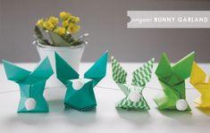 diy guirlande origami lapin