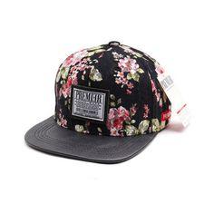 e84a718b33e Pink Black Flower Pattern Cap Men Woman Hat Adjustable Korean Fashion Style  S-10  PREMIER  BaseballCap