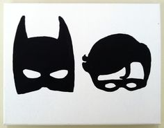 batman and robin stencil