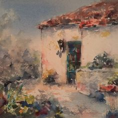 Original Watercolor Paintings by California Impressionist Artist ---Julie Hill