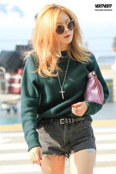 4minute Hyuna Airport Fashion Official Korean Fashion