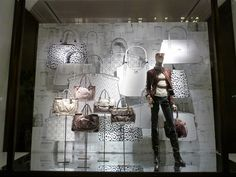 Drawn collection at Coach window display New York