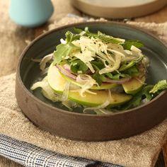 Arugula, Fennel and Apple salad with a lemon vinaigrette | www.marilenaskitchen.com