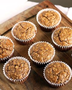 Protein Oatmeal Cups sub in pumpkin and pumpkin pie spice for banana/applesauce