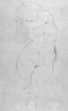 Klimt Study for The Virgin Seated Nude with Covered Face Drawing Gustav Klimt, Klimt Art, Henri De Toulouse Lautrec, Figure Painting, Figure Drawing, Esoteric Art, Sketches Of People, Illusion Art, Life Drawing